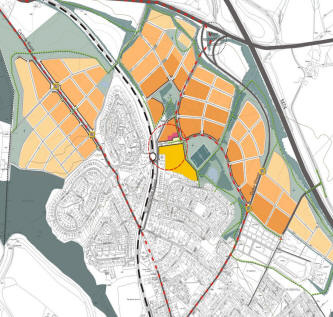 Plan showing proposed Larkhall expansion