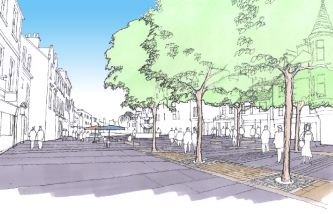 illustratioon of proposed streetscape works