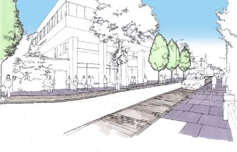illustration of public realm proposals