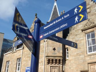 Falkirk fingerpost sign