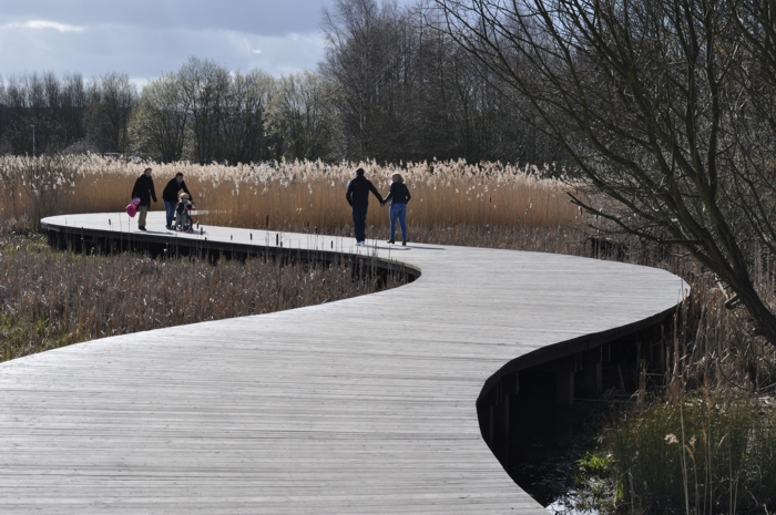 the Helix Park Boardwalk