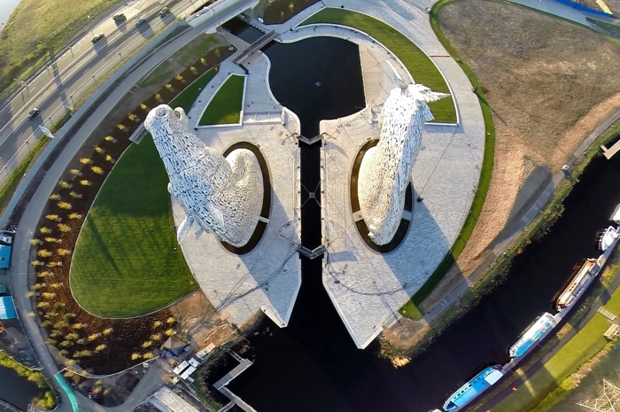 the Helix. the Kelpies Hub Plan View. Image courtesy of Alan Corrie https://www.facebook.com/scotlandabove