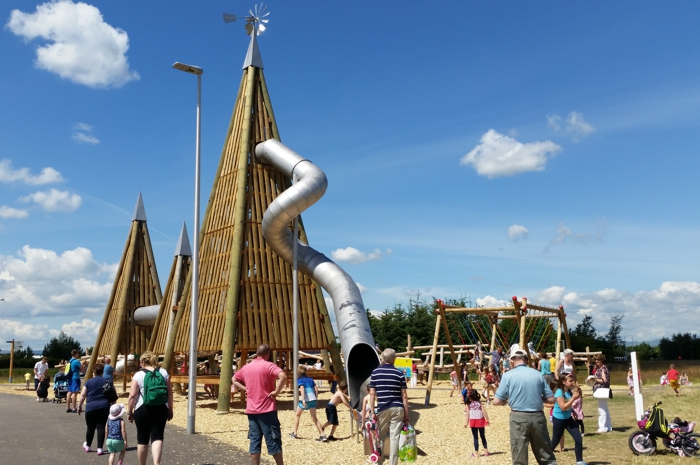 the Helix Park Falkirk. Play Area