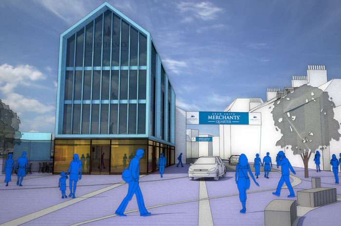 Kirkcaldy Town Centre, conceptual CGI visualisation