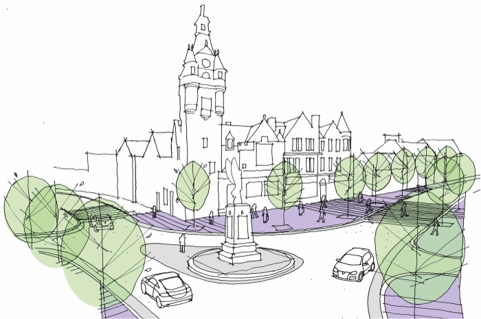 Lockerbie Town Centre Public Realm. Sketch Vision