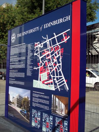 University of Edinburgh Orientation Sign